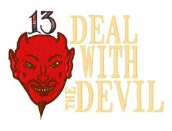 Deal With Devil embroidery design