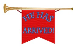 He Has Arrived embroidery design