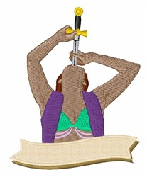 Sword Swallower embroidery design