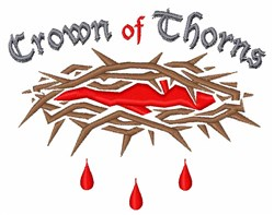 Crown of Thorns embroidery design