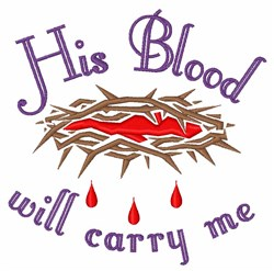 His Blood embroidery design