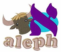 Aleph embroidery design