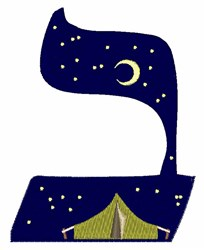 Hebrew Tent embroidery design