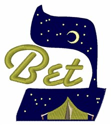 Bet embroidery design