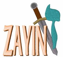 Zayin embroidery design
