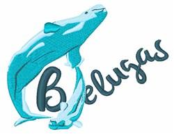 Belugas embroidery design
