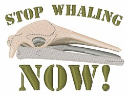 Stop Whaling  embroidery design
