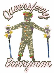 Queensferry Burryman embroidery design
