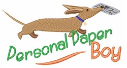 Paper Boy embroidery design