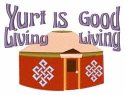 Yurt Living embroidery design