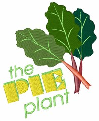The Pie Plant embroidery design