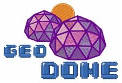 Geo Dome embroidery design