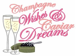 Champagne Wishes embroidery design