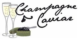 Champagne Caviar embroidery design
