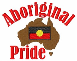 Aboriginal Pride embroidery design