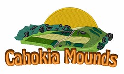 Cahokia Mounds embroidery design