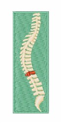 Chiropractor Spine embroidery design