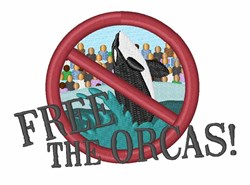 Free The Orcas embroidery design