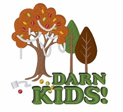 Darn Kids embroidery design