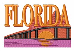 Florida Bridge embroidery design