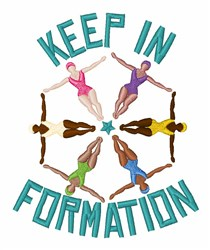Keep Formation embroidery design