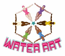 Water Art embroidery design