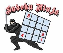 Sudoku Ninja embroidery design