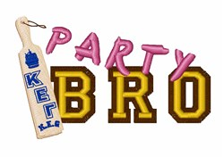 Party Bro embroidery design