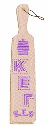 Sorority Paddle embroidery design