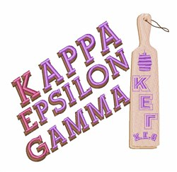 Kappa Epsilon Gamma embroidery design