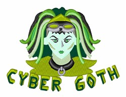 Cyber Goth embroidery design