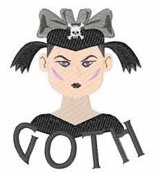 Goth embroidery design