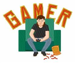 Gamer embroidery design