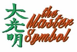 Master Symbol embroidery design