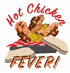 Hot Chicken embroidery design
