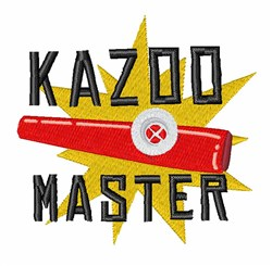 Kazoo Master embroidery design