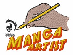 Manga Artist embroidery design