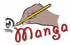 Manga embroidery design