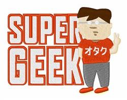 Super Geek embroidery design
