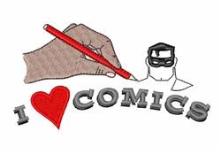 Love Comics embroidery design