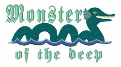 Monster Of Deep embroidery design