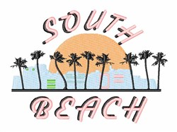 South Beach embroidery design