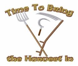 Vintage Harvest Tools embroidery design