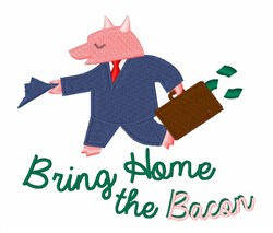 Bring Home the Bacon  embroidery design
