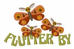 Adorable Cartoon Moths embroidery design