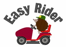 Hedgehog Easy Rider embroidery design