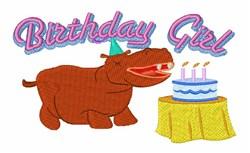 Happy Birthday Hippo! embroidery design