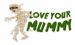 Halloween Mummy embroidery design
