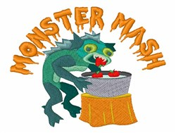 Halloween Monster Apple Bobbing embroidery design