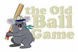 Koala Baseball Player embroidery design
